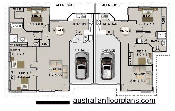 5 Bedroom Duplex House Plan 196du 3 X 2 Duplex Plans Australia Duplex Plans Australia In 2020 Duplex Design Duplex Floor Plans Duplex House Plans