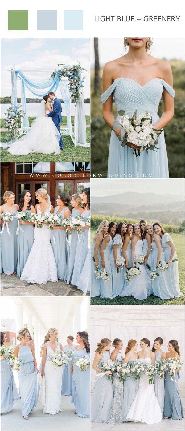 20 Light Blue Wedding Color Ideas For Spring 2020 Light Blue Bridesmaid Dresses Summer Bridesmaid Dresses Light Blue Bridesmaid [ 1400 x 600 Pixel ]