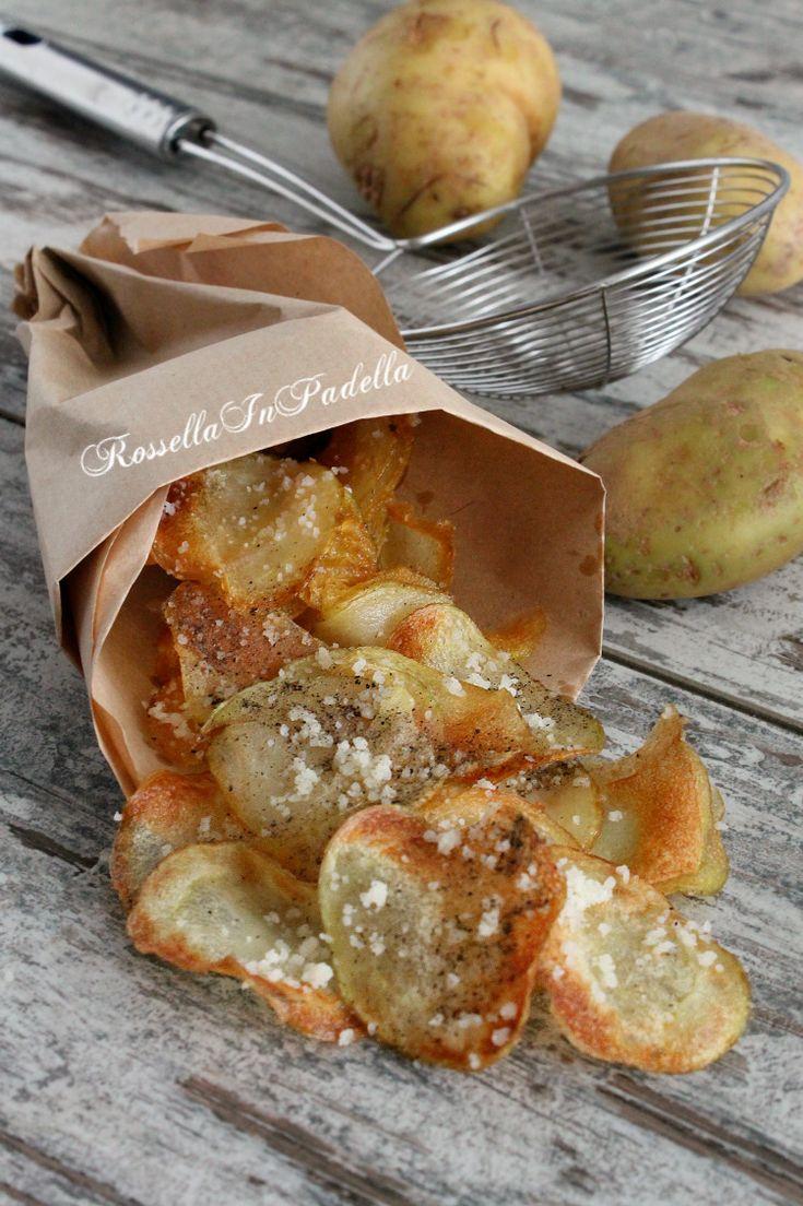 Chips di patate cacio e pepe