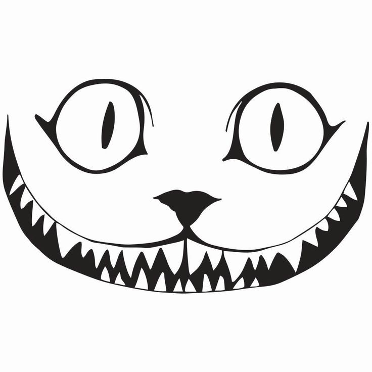 "Cheshire Cat Smile Decal, 5.5""/7.5""/11.5"" Sizes, 10 Color Choices, Sticks to Virtually Any Flat Surface"