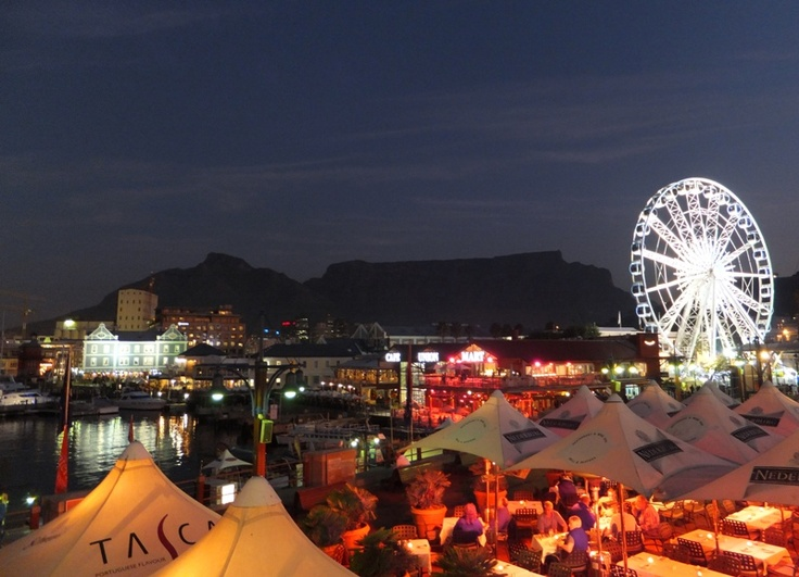 The V Waterfront after dark, Cape Town