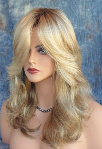 Hot Fashion wig New Charm Women's Long Mix Blonde Full wigs + Free Shipping #New #FullWig