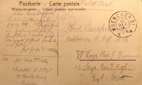 Hitler postcard  BBC news  8 May 2012
