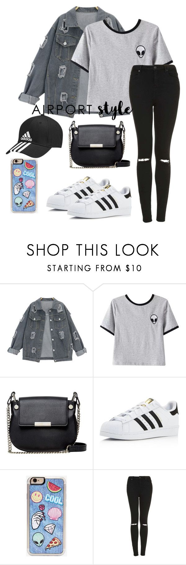"""Untitled #374"" by ec2049 ❤ liked on Polyvore featuring Chicnova Fashion, French Connection, adidas, Zero Gravity and Topshop"