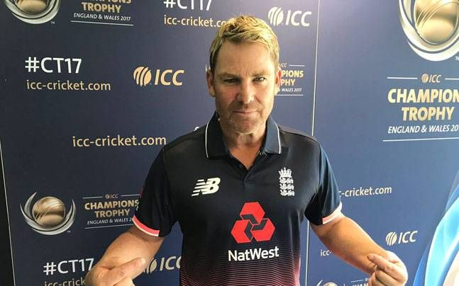 Shane Warne wears England jersey to fulfil a promise made to Sourav Ganguly at Salaam Cricket : ICC Champions Trophy 2017, News http://indianews23.com/blog/shane-warne-wears-england-jersey-to-fulfil-a-promise-made-to-sourav-ganguly-at-salaam-cricket-icc-champions-trophy-2017-news/