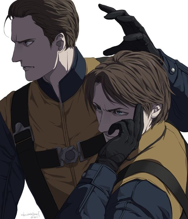 Charles Xavier and Erik Lensherr in comic or manda style?                        But who cares.