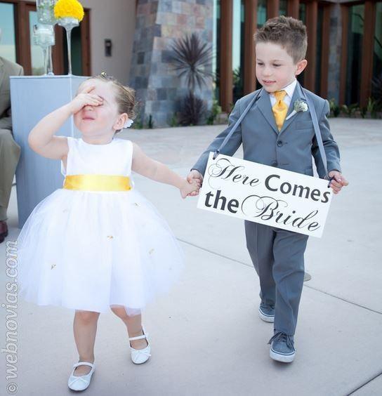 Cómo escoger a los pajes de tu boda www.webnovias.com/blog