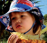 Boys Blue Lagoon Bucket. A great boys beach hat. It has a great bucket shape, great wide brim and a toggle adjustable chin strap. It is made from fast drying beach patterned microfibre material. It is super lightweight and is easily folded to take anywhere.