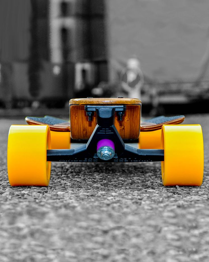 Skateboard Longboard en bois made in France LDP/randonnée skate Seven suns