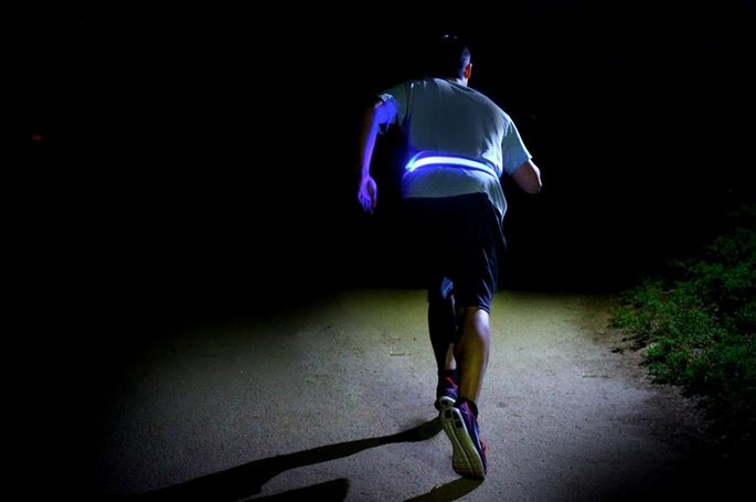 The new Halo Belt: Way better for running or biking than any reflective tape.: Belt Reflective, Belts