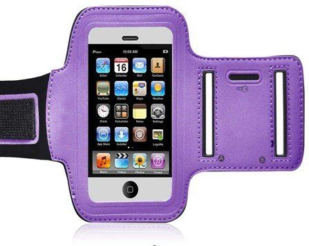 Mocase Purple Sport Armband Case for New Apple Iphone 5 Iphone 5S. Design specifically for New Apple iPhone 5 5S 6th Generation. Strechable for maxium protection and comfort. Offers full protection for your Apple iPhone 5 5G 5S. Purple Durable and lightweight arm band will keep your iPhone 5 safe and Protected. Adjustable Velcro lets you adjust your arm band for maximum comfort.