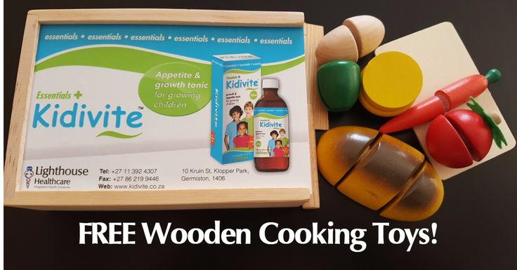 Kidivite is giving away FREE Wooden Cooking toys! Yes, each worth over R250. Claim yours today before Stocks run out!