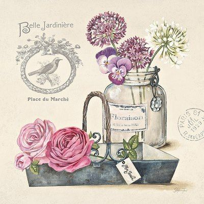 French Seed Packet Art Print