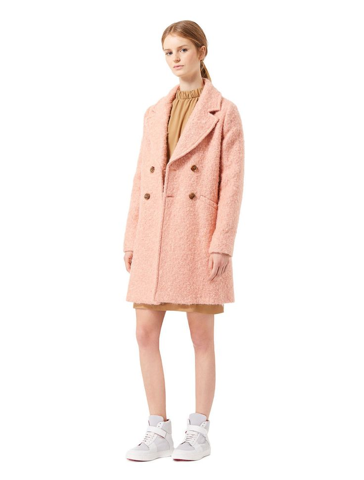 Double-breasted coat, powder - iBlues FREE DELIVERY