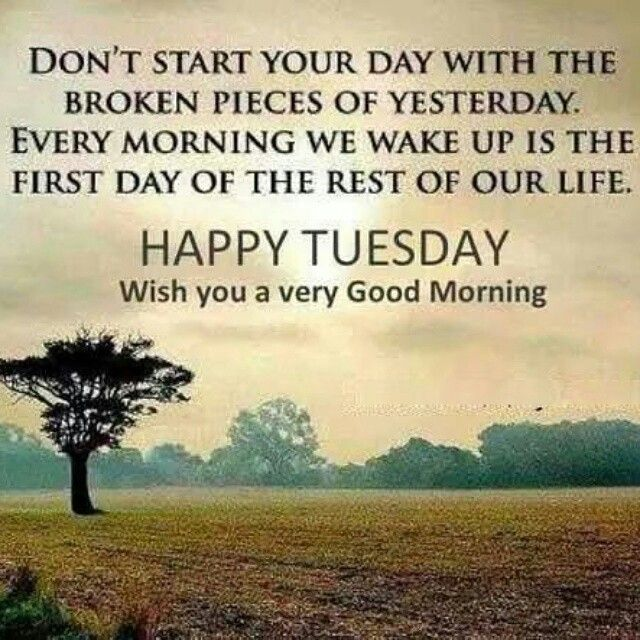 Have a wonderfully productive & prosperous Tuesday!