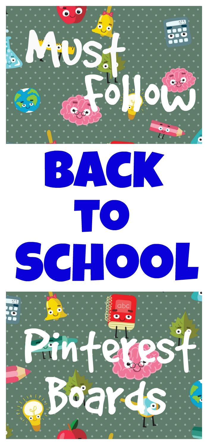 Be sure to follow these Back to School Pinterest Boards for all the best ideas, activities, traditions, and supplies for Back to School this year | Seashells and Swings