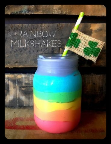 Rainbow Milkshakes by poca cosa