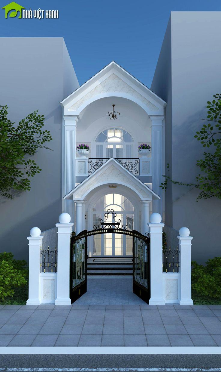 Thiết kế nhà phố 2 tầng cổ điển thời hiện đại http://nhavietxanh.com.vn/thiet-ke-nha-pho-2-tang-phong-cach-co-dien/