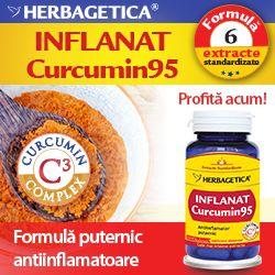 Inflanat Curcumin95 are o formula unica, intensa cu 6 extracte standardizate din cele mai recunoscute plante pentru actiunea lor antiinflamatoare, antioxidanta, antibacteriana si antivirala. Inflamatia are un rol major in dezvoltarea celor mai multe afectiuni (cancer, artrita, Alzheimer, diabet), insa datorita formulei unice si intense din Inflanat Curcumin95 aceste afectiuni pot fi preintampinate si tratate.