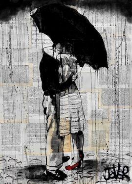 "Saatchi Art Artist: Loui Jover; Ink 2013 Drawing ""hopeless romantics"""