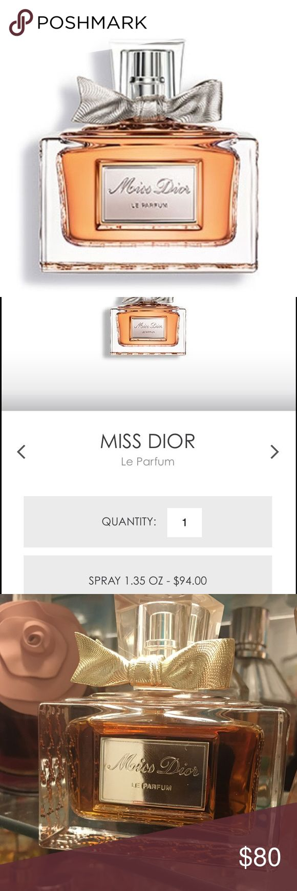 Authentic Miss Dior Le Parfum 1.35 fl. oz. / 40 ml New without box. May have only been sprayed 1-2 times, max. Current retail price $94 USD + tax. Christian Dior Other