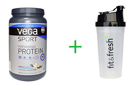 Vega-Sport-Performance-Protein-Vanilla-Flavor-292-oz-828-gVitaminder-Power-Shaker-Bottle-20-oz-Bottle