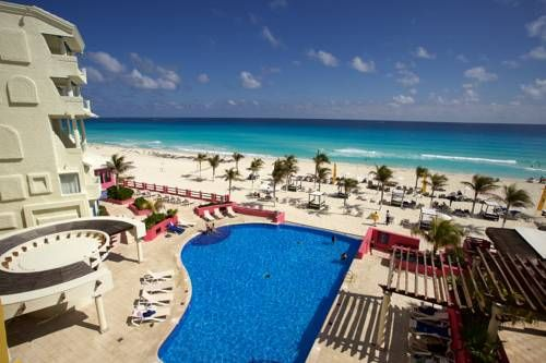 NYX Hotel Cancun (Avenida Kukulcan KM 11.5) Located on a 14-mile stretch of pristine beachfront in Cancun's hotel zone, NYX Hotel Cancun.  has an infinity pool overlooking the Caribbean Sea. Some of its rooms have views of the sea or Nichupté Lagoon. #bestworldhotels #hotel #hotels #travel #mx #cancun