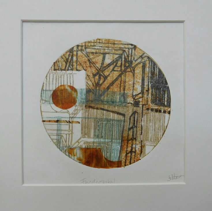 Fundamental by Sally Hirst  Collage of hand printed papers