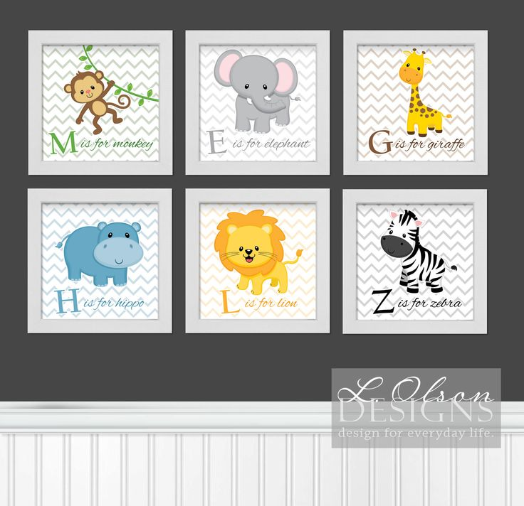 Zoo or Safari Animals Nursery Art DIY Printable. $17.50, via Etsy.