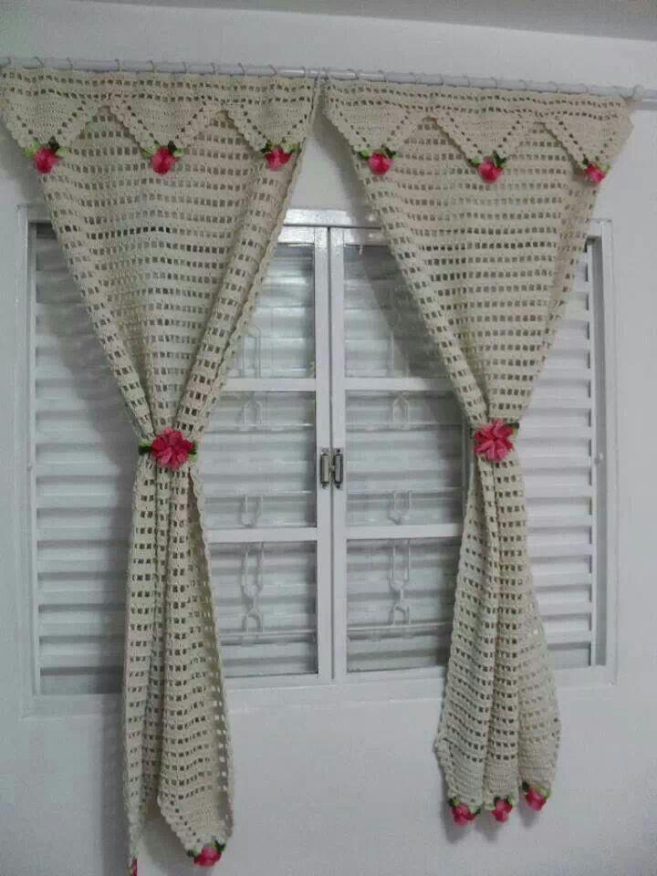 Crochet Curtains, Diy Curtains, Country Curtains, Diy Crochet, Crochet  Ideas, Crochet Designs, Curtain Ideas, Samsung, Digital Cameras
