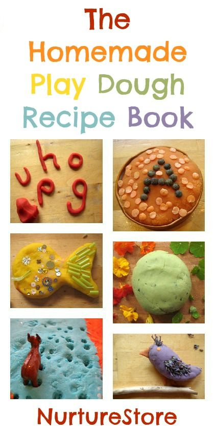 Collection of recipes and ideas for playing with fall themed play dough, clay, and more.