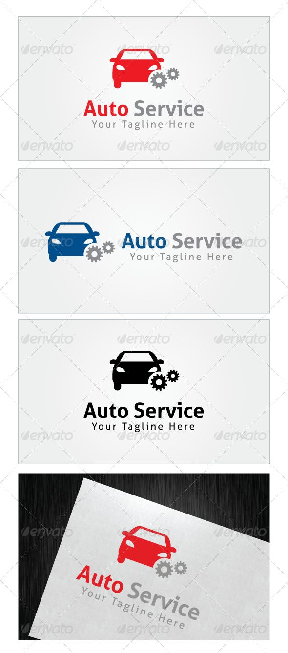 Auto Service Logo Template — Photoshop PSD #truck #painting • Available here → https://graphicriver.net/item/auto-service-logo-template/7753385?ref=pxcr