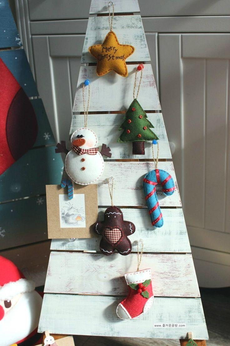 #크리스마스 트리 장식 [크리스마스소품]펠트로 오너먼트 만들기 1 : 네이버 블로그