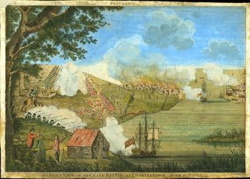The siege of Boston was followed by the Battles of Lexington and Concord when colonial militia forced British troops back into Boston, Massachusetts and surrounded the city.
