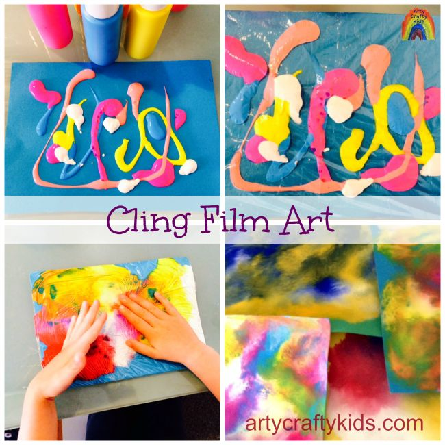 cling film art feature