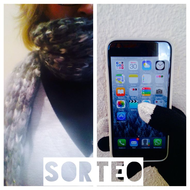 #Sorteo en mi www.facebook.com/MartaAbrilCreativosFanPage para llevarte estos guantes pro-tecnology!!!   Qué frioooooo!!