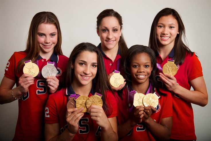 London 2012 Olympics - McKayla Maroney, Aly Raisman, Jordyn Wieber, Gabrielle Douglas and Kyla Ross