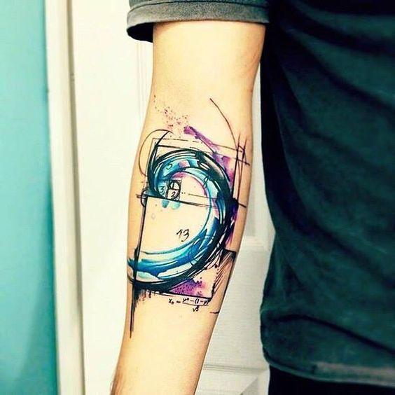tatuajes de acuarela proporcion aurea