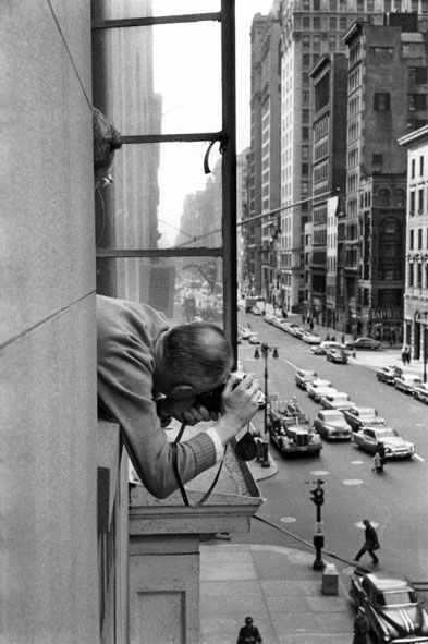 Henri Cartier-Bresson by René Burri, 1959 * It is an illusion that photos are made with the camera. They are made with the eye, heart and head.""