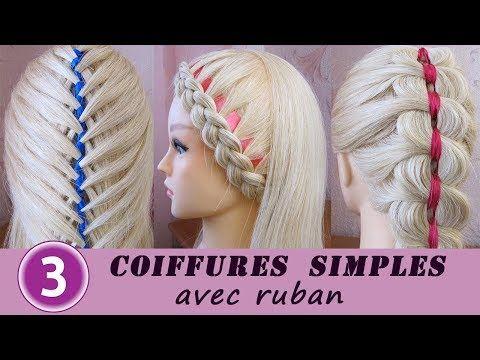 3 Easy Hairstyles Ribbon Braid Hair Tutorial Coiffures