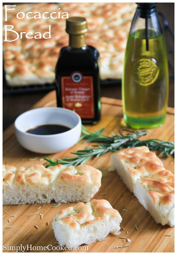 Focaccia bread- soft and chewy on the inside yet slightly crunchy on the edges. The best bread for Italian sandwiches.