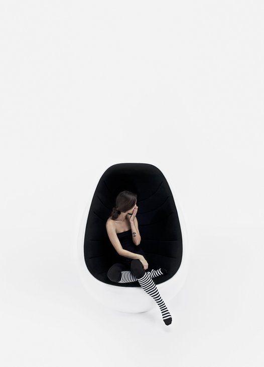 Black and white Koop chair via Little Helsinki