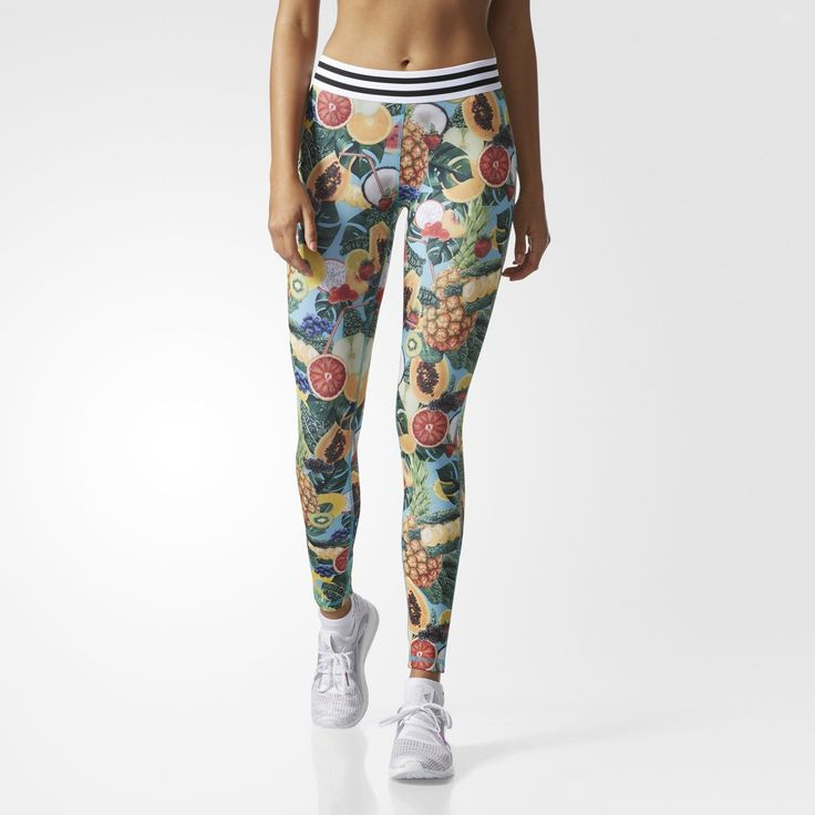 adidas - Techfit Tropical Smoothie-Print Tights