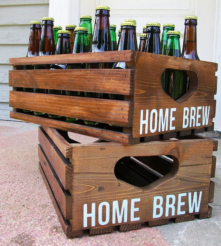Homebrew Reclaimed Wood Beer Crates – Set of 2 by Coffee Diem Dry Goods on Scoutmob Shoppe. Each of these hand-built crates is made from reclaimed wood and has room enough for a full case of beer.