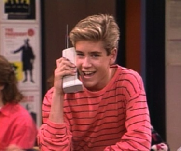 Even Zack Morris can't make that clunky phone look cool.