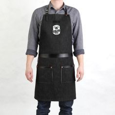Mens BBQ apron - love the logo!