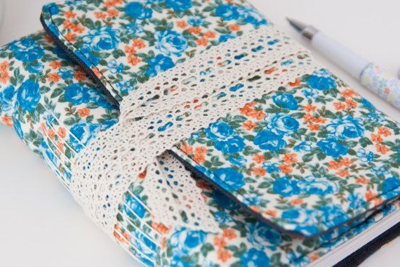 Floral Travel Journal Diary. Unlined Journal by Mettaville on Etsy