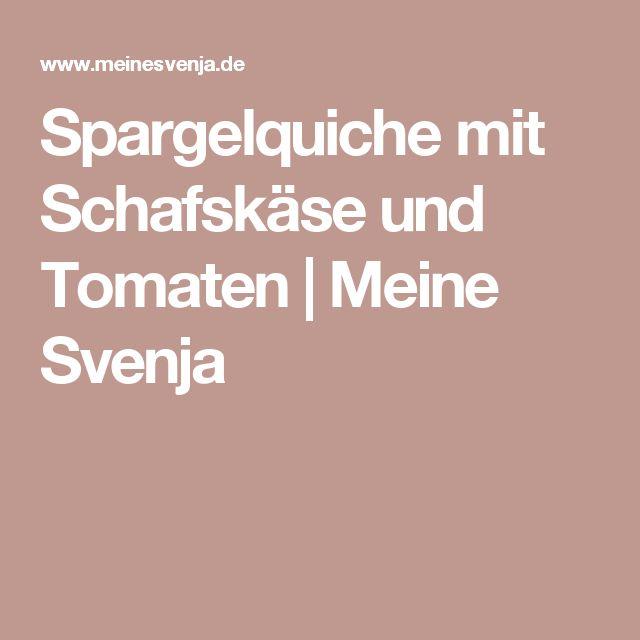 Spargelquiche mit Schafskäse und Tomaten | Meine Svenja