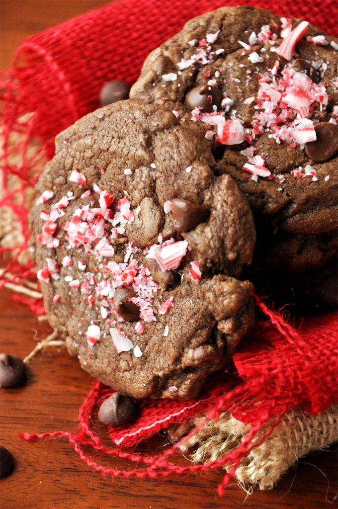 Double Chocolate Peppermint Cookies. I used Andes Peppermint Crunch ...