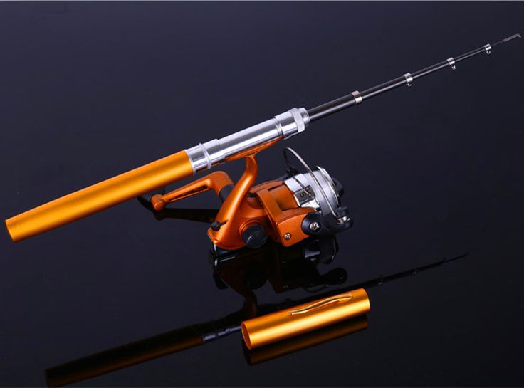 Sougayilang Mini Telescopic Ice Fishing Rod With Fishing Reel Portable Pocket Aluminum Alloy Pen Rod Pole Fishing Rod Reel Set